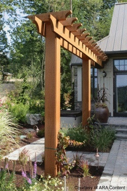 Backyard trellises for Japanese garden structures wood