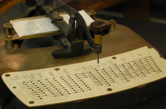 Punched card reader