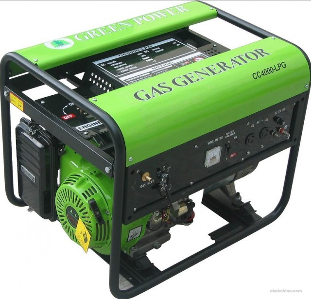 Gas natural powered electrical generator