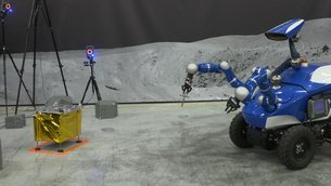Rover approaching task board