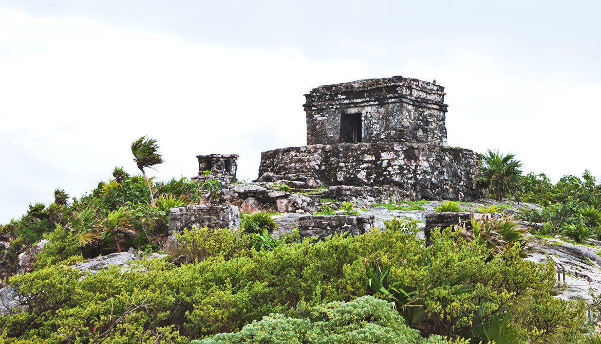 Maya ruins in Tulum Mexico