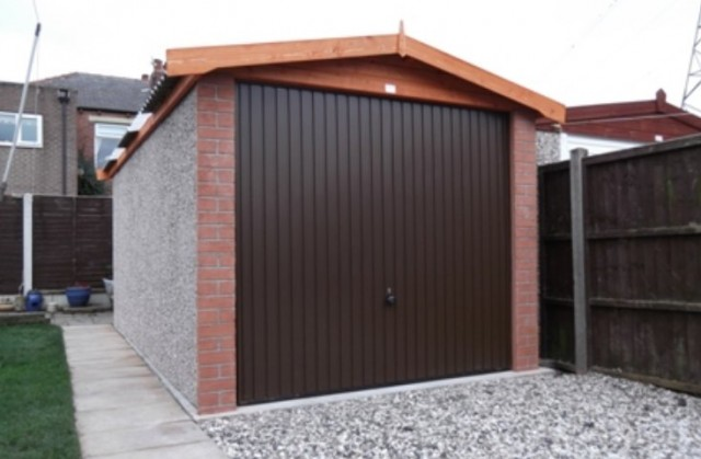 Concrete garage roof
