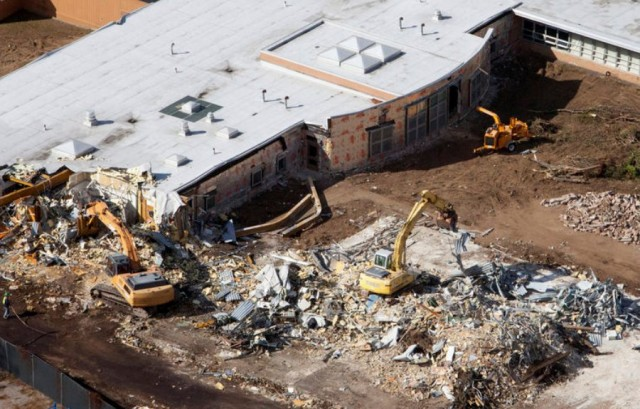 Sandy Hook elementary school demolished