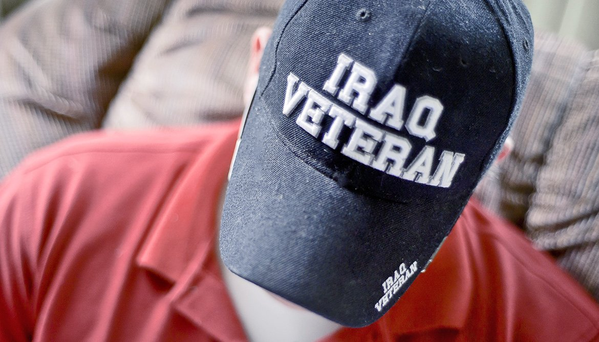 Iraq veteran baseball cap