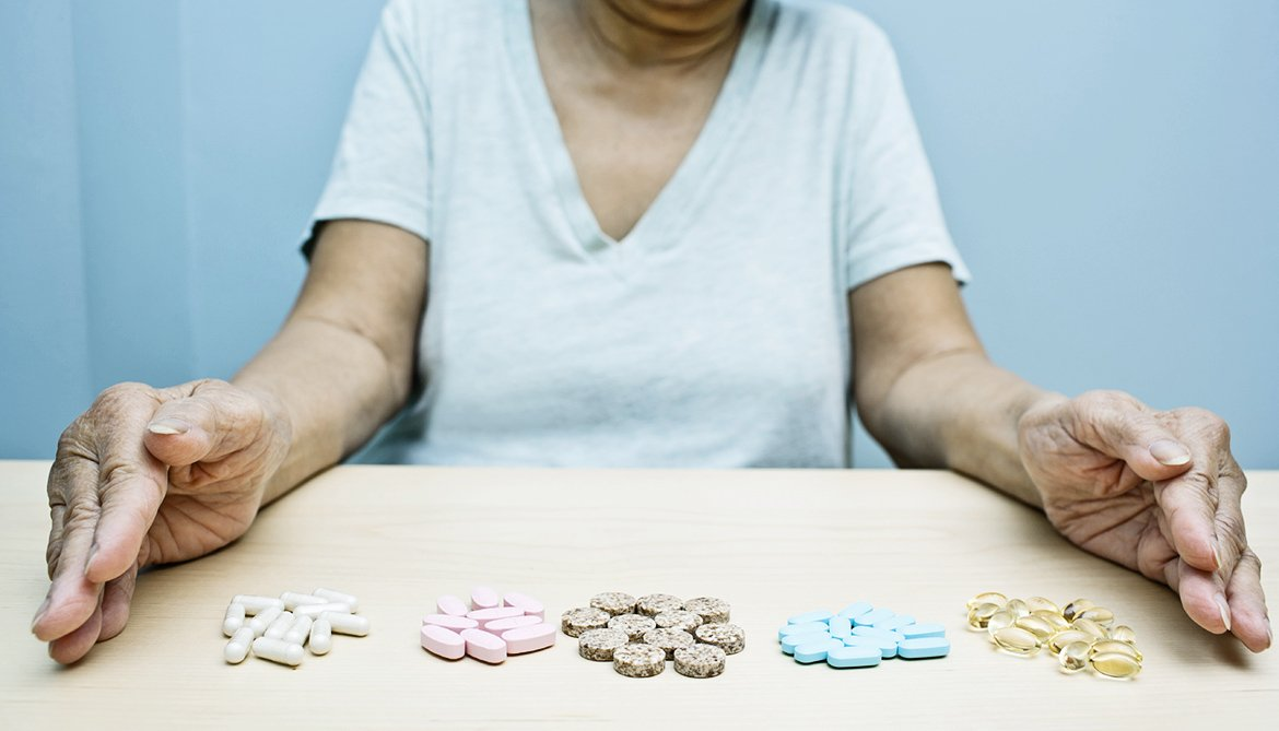 older woman and pills