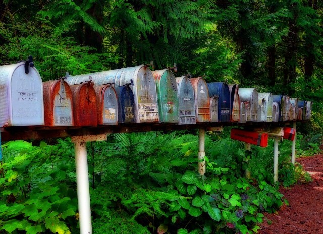 Snail mail mailboxes