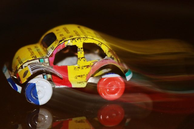 Recycled toy car