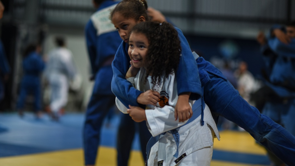Young Brazilians training at the same centre as Yolande see her as a role model.