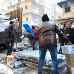 Residents of Aleppo receive crucial relief items from UNHCR and other UN partners in the Al-Sha'aar neighborhood of eastern Aleppo. © UNHCR/Bassam Diab