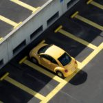 Yellow car in parking