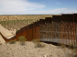 Mexican border new fence