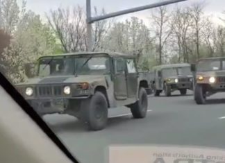 Army in New York streets