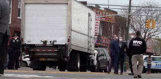 New York dead bodies in trucks found