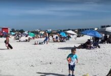 Crowded beaches Memorial Day