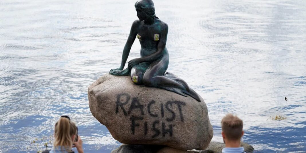 Lettle Mermaid vandalized