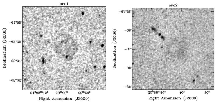 Four objects detected in deep space never seen before: a kind of giant rings with a bright edge