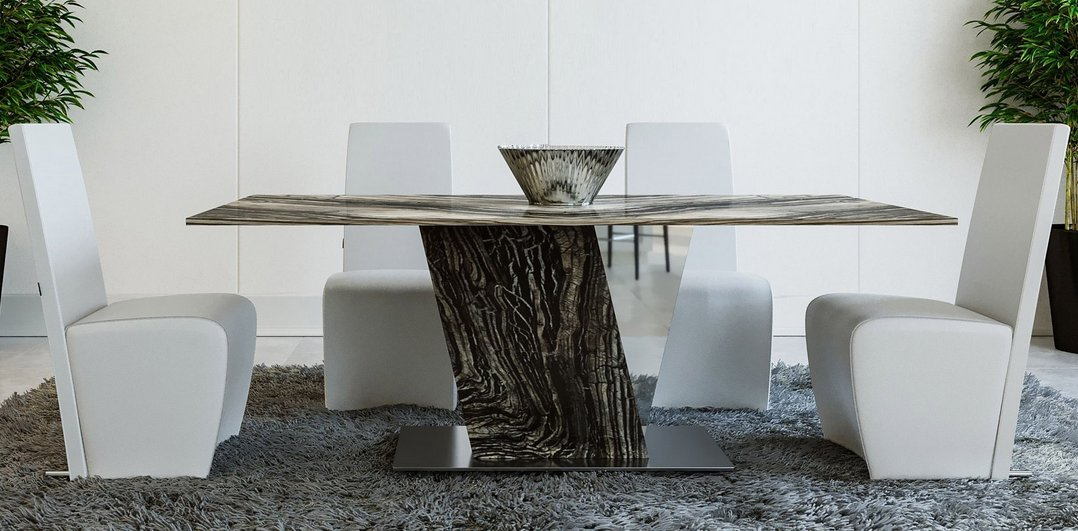 Black marbe table