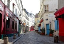 Montmartre empty closed by coronavirus