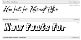 New fonts for Microsft Office