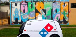 Nuro pizza delivery Houston