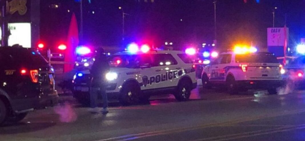 Police after shooting