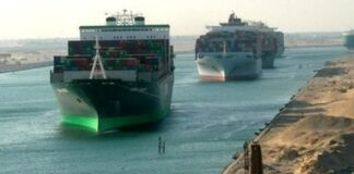 Ships in the Suez Canal