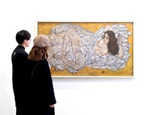 Reclining Woman by Egon Schiele at leopold Museum Vienna